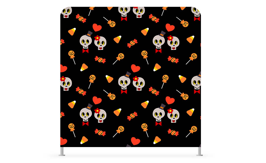 Custom Halloween photo booth party backdrop